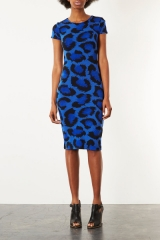 Topshop Blue Leopard Bodycon Dress at Nordstrom