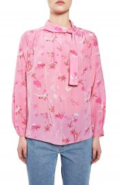 Topshop Boutique He Loves Me Not Silk Blouse at Nordstrom