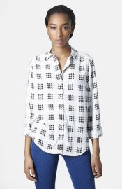 Topshop Check Grid Shirt at Nordstrom