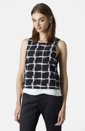 Topshop Check Print Sleeveless Top at Nordstrom