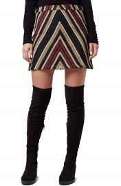 Topshop Chevron A-Line Miniskirt at Nordstrom