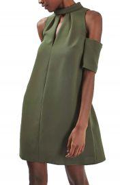 Topshop Cold Shoulder Keyhole Dress at Nordstrom