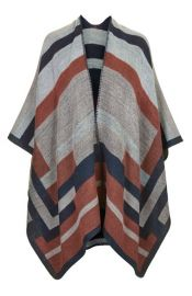 Topshop Colorblock Geometric Cape at Nordstrom
