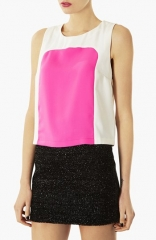 Topshop Colorblock Shell at Nordstrom