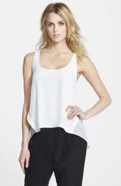 Topshop Contrast Panel Seam Tank at Nordstrom