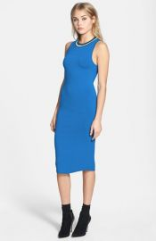 Topshop Contrast Trim Jersey Midi Dress at Nordstrom