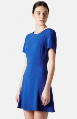Topshop Crepe Fit andamp Flare Dress at Nordstrom