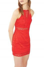 Topshop Crochet Trim Lace Dress  Regular   Petite at Nordstrom