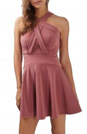 Topshop Cross Front Skater Dress at Nordstrom