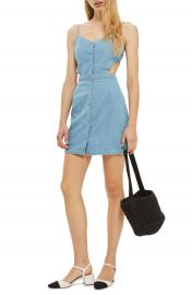 Topshop Cutout Denim Dress at Nordstrom