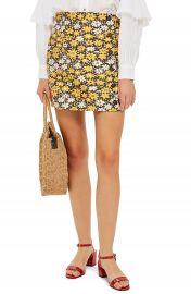 Topshop Daisy Jacquard Miniskirt at Nordstrom
