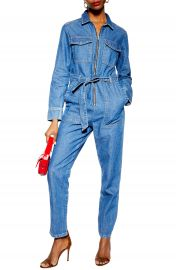 e80a1ee5c8a WornOnTV  Adrienne s belted denim jumpsuit on The Real