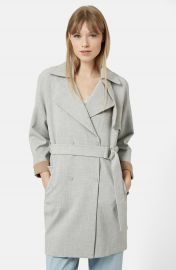 Topshop Double Breasted Trench Coat at Nordstrom