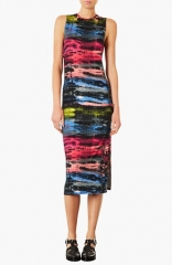 Topshop Electric Ray Midi Dress at Nordstrom