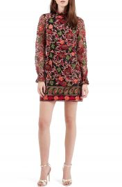 Topshop Embroidered Frill Dress at Nordstrom