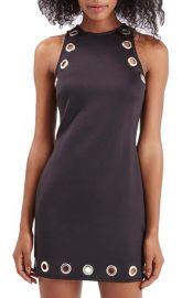 Topshop Eyelet Body-Con Dress at Nordstrom