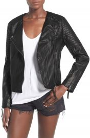 Topshop Faux Leather Biker Jacket  Regular   Petite at Nordstrom
