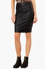 Topshop Faux Leather Pencil Skirt at Nordstrom
