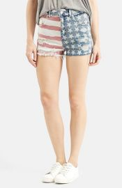 Topshop Flag Denim Mom Shorts at Nordstrom