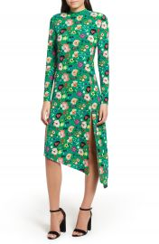 Topshop Floral Chuck On Midi Dress at Nordstrom