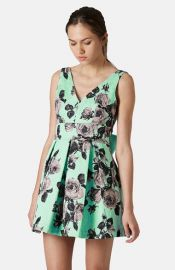 Topshop Floral Print Fit andamp Flare Dress at Nordstrom