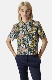 Topshop Floral Print Shirt at Nordstrom