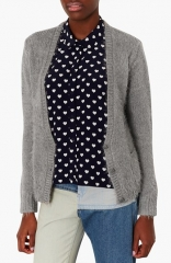 Topshop Fluffy Knit V-Neck Cardigan at Nordstrom