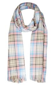 Topshop Fringed Plaid Scarf at Nordstrom
