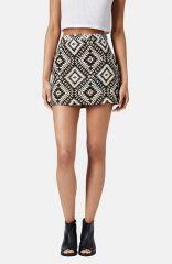 Topshop Geo Jacquard Miniskirt at Nordstrom