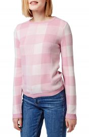Topshop Gingham Check Sweater at Nordstrom