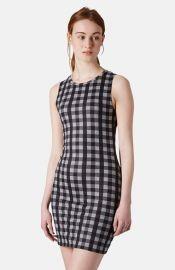 Topshop Gingham Sheath Minidress at Nordstrom