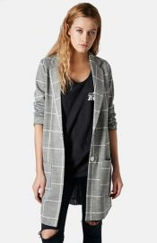 Topshop Grid Check Slim Coat at Nordstrom