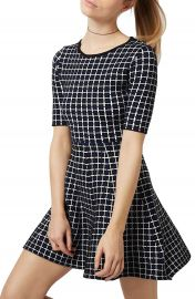 Topshop Grid Minidress at Nordstrom