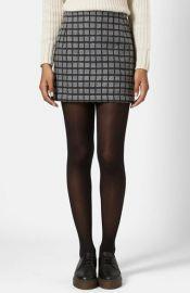 Topshop Grid Miniskirt at Nordstrom