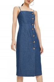 Topshop Horn Button Midi Dress at Nordstrom