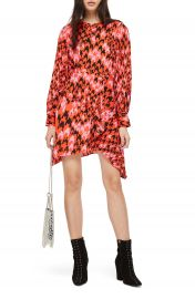 Topshop Houndstooth Asymmetrical Sheath Dress at Nordstrom