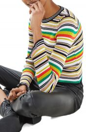Topshop Hyper Stripe Sweater at Nordstrom