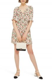 Topshop Iris Floral Mini Skater Dress at Nordstrom