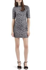 Topshop Jacquard Leopard Body-Con Dress at Nordstrom