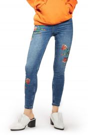 Topshop Jamie Embroidered Skinny Jeans at Nordstrom
