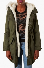 Topshop Joey Faux Fur Lined Parka at Nordstrom