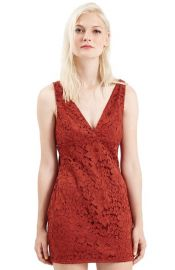 Topshop Lace Body-Con Tunic Dress at Nordstrom