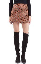 Topshop Leopard Print A-Line Miniskirt at Nordstrom