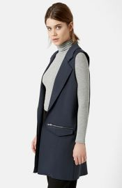 Topshop Long Utility Vest at Nordstrom