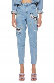 Topshop Love Me Bleach Mom Jeans at Nordstrom