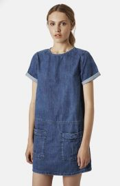 Topshop Moto Denim T-Shirt Dress at Nordstrom