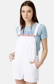 Topshop Moto Dungaree Short Overalls at Nordstrom