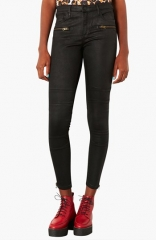 Topshop Moto Seamed Coated Skinny Jeans at Nordstrom
