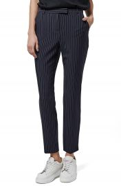Topshop Pinstripe Cigarette Trousers at Nordstrom