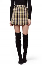 Topshop Plaid Kilt Miniskirt at Nordstrom